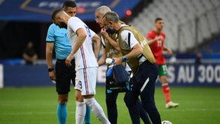 Sospiro di sollievo Deschamps, l'infortunio di Benzema non sembra grave