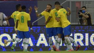 Neymar, gol e assist: tris del Brasile al Venezuela al debutto