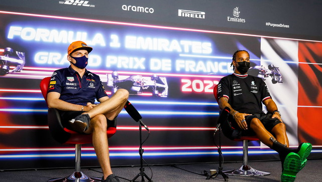 """GP Francia, traHamilton eVerstappen """"una sfida molto accesa"""""""