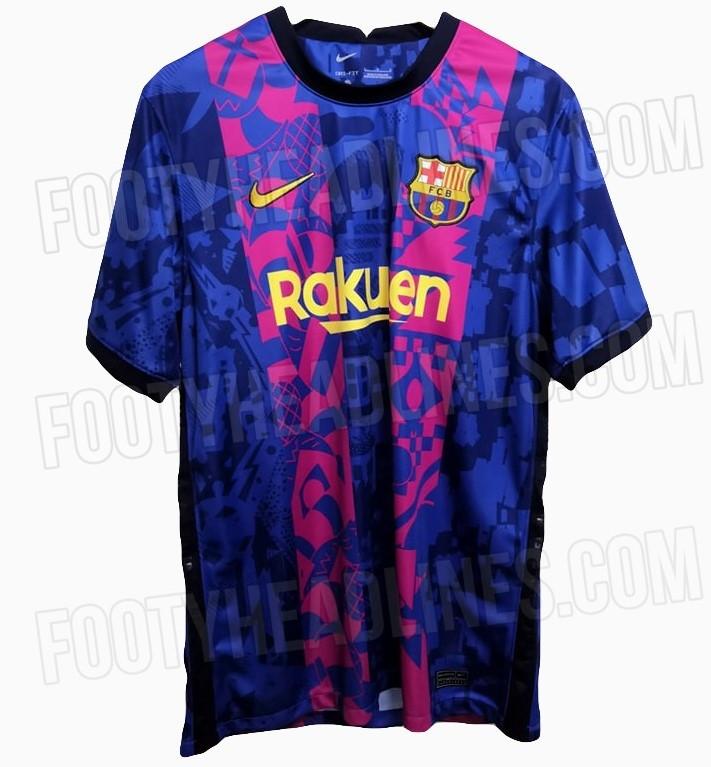 Il fronte della maglia speciale che il Barcellona potrebbe indossare in Champions League