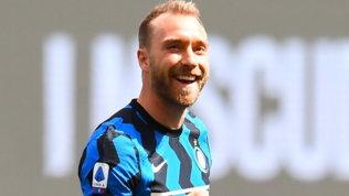 """L'Inter """"scrive"""" a Eriksen: """"Forza Chris, tutti gli interisti sono con te!"""""""