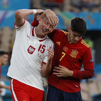 Morata non basta, la Spagna ora rischia. Lewa tiene in vita la Polonia