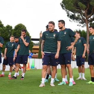 Italia al lavoro a Coverciano in vista dell'Austria