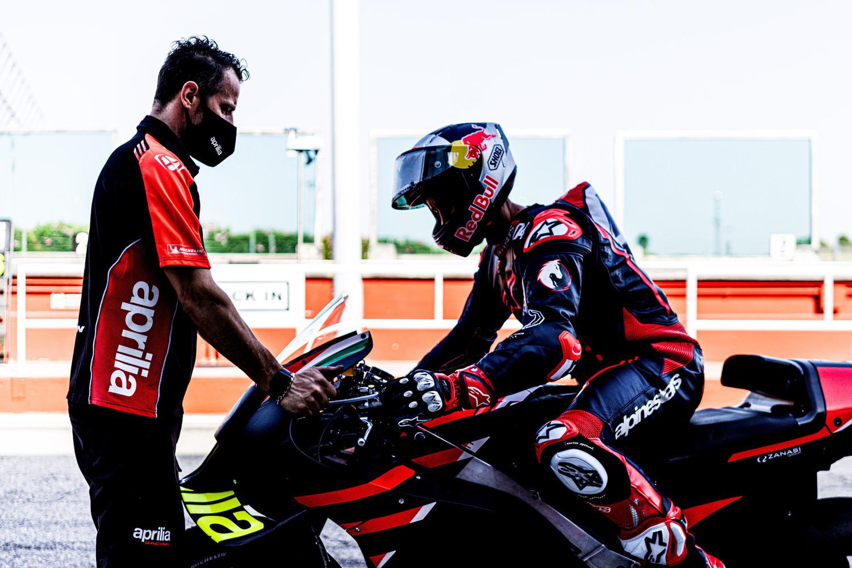 Due giorni di test a Misano per il pilota forlivese in sella all&#39;Aprilia RS-GP, prossimo appuntamento ad Aragon a luglio.<br /><br />