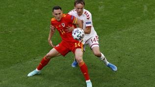Galles-Danimarca, le immagini del match