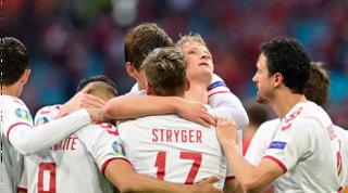 Dolberg, Maehle e Braithwaitestendono il Galles,Danimarca ai quarti in goleada