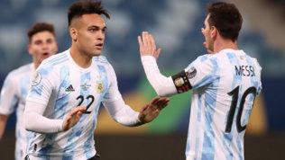 Messi-Papu-Lautaro, Argentina ai quarti | Cavani fa felice l'Uruguay