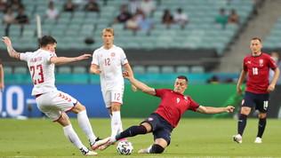 Repubblica Ceca-Danimarca, le immagini del match