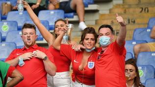 Ucraina-Inghilterra, i tifosi all'Olimpico di Roma