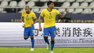 Neymar ispira, Paquetá segna: Peru ko, il Brasile primo finalista