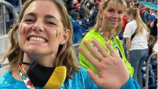 """La sorella di Courtoisallo stadio:""""Spinazzola simula"""".Poi si scusa"""
