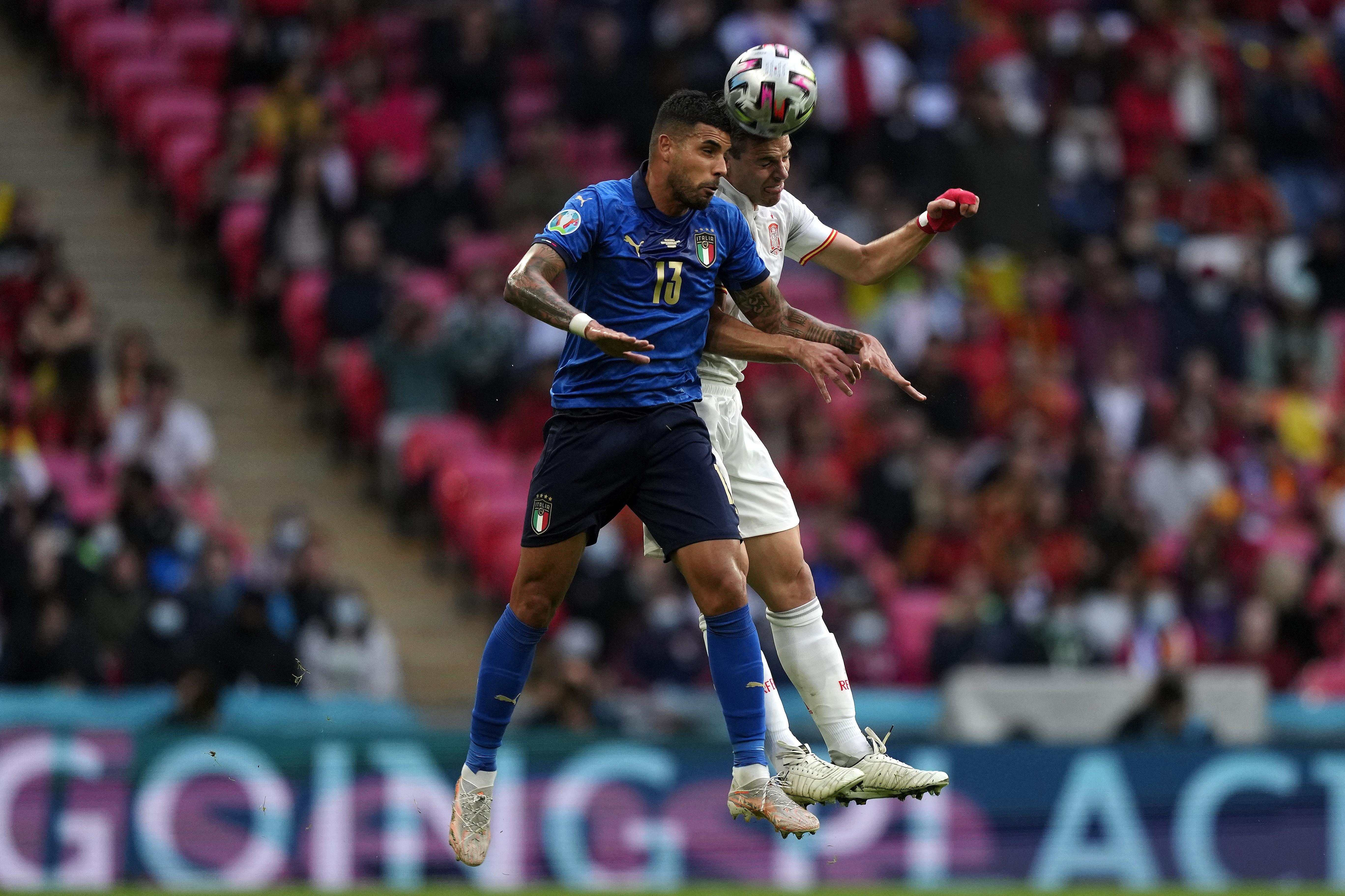 Italia-Spagna 5-3 ai rigori, i migliori scatti della semifinale di Wembley.<br /><br />