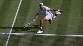 Berrettini in semifinale a Wimbledon: battuto Auger Aliassime