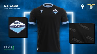 Lazio, la terza maglia è total black