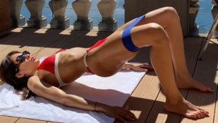 Lady Hakimi, allenamento sotto il sole