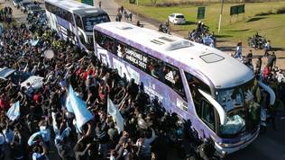 Argentina, rientro a casa trionfale con la Copa America