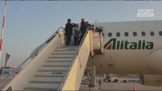 L'arrivo della Nazionale in Italia