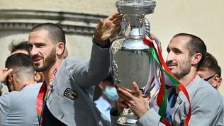 La coppa, la festa, i tifosi: l'Italia al Quirinale da Mattarella