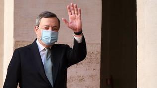 """Draghi agli Azzurri: """"Voi un modello, avete messo l'Italia al centro d'Europa"""""""