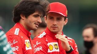 """Leclerc soddisfatto: """"Così mi piace"""". Sainz: """"Tocca spingere"""""""