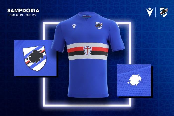 La Sampdoria si prepara come le altre squadre di Serie A alla prossima stagione, ma lo fa con una consapevolezza in pi&ugrave;: quella di vestire i colori pi&ugrave; affascinanti di tutti. Nella nuova divisa di casa per la stagione 2021/22 all&#39;interno del colletto - dietro al collo - &egrave; infatti presente la scritta: &quot;La maglia pi&ugrave; bella del mondo&quot;, a ribadire l&#39;unicit&agrave; di quel blucerchiato che l&#39;ha resa famosa in tutto il globo. In linea con l&#39;inscalfibile tradizione doriana, la casacca dello sponsor tecnico Macron vede il &quot;baciccia&quot; - pescatore genovese simbolo del club - sul retro sotto la nuca, mentre pantaloncini e calzettoni hanno il bianco come colore principale: i tifosi della Sampdoria possono gi&agrave; trovare la nuova divisa sul sito ufficiale della squadra e della Macron.<br /><br />