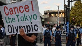Tokyo: non solo la festa, anche le proteste