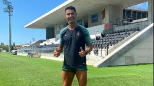 Cristiano Ronaldo si allena. Domani il ritorno a Torino