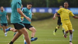 Inter, sgambata e goleada con la Pergolettese | Lukaku è ad Appiano