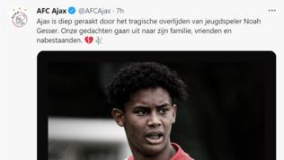 Ajax in lutto, morto il 16enne Gesser in un incidente stradale