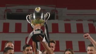Trofeo Berlusconi, la premiazione della Juventus