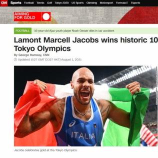Dalla BBC alla Bild: la stampa internazionale incorona Jacobs