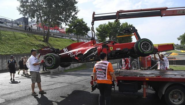 Ferrari, motore di Leclerc inutilizzabile dopo l'incidente in Ungheria