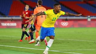 Malcom stende la Spagna al 108': Brasile ancoracampione | Dani Alves, trofeo n.44