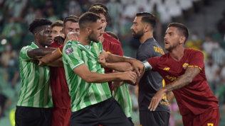 Betis-Roma, Pellegrini a rischio squalifica in Conference League