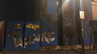 Inter, rabbia ultrà: imbrattato murale di Lukaku