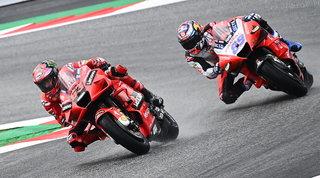 Bagnaia mette il turbo, Rossi si arrende al Q1