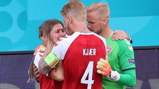 La Uefa premia Kjaer e i medici danesi per aver salvato Eriksen