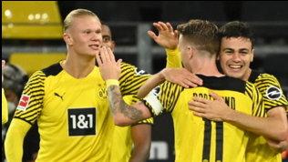 Haaland regala tre punti in extremisal Dortmund, resa Hoffenheim