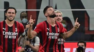 Al Milan basta un tempo: Giroud strega San Siro e affonda il Cagliari