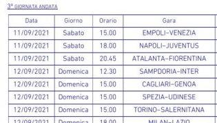 Serie A, ecco tutti gli anticipi e i posticipi dalla terza alla 19esima giornata