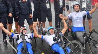 Oro per la staffetta mista di handbike | L'Italia eguaglia i 58 podi di Seul