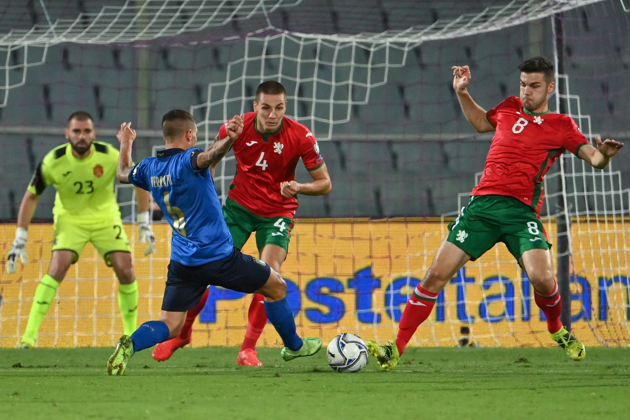 L&#39;Italia di Roberto Mancini ha ospitato la Bulgaria a Firenze nel cammino di qualificazione verso Qatar 2022, ecco le migliori foto<br /><br />
