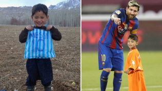 """L'appello del piccoloMurtaza a Leo Messi: """"Vieni a salvarmi"""""""