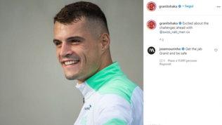 """Xhaka positivo,Mourinhogli scrive su Instagram: """"Vaccinati"""""""