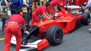 Monza 2001, il GP dopo l'11 settembre: la Ferrari col musetto nero