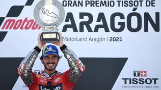 """Bagnaia ricorda il trionfo di Aragon: """"È stato incredibile"""""""