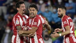 Suarez ribalta il Getafenel finale: l'Atletico vince ed primo