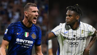 Inter-Atalanta è anche Dzeko-Zapata: le sliding doors del mercato