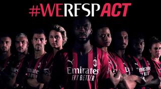 """Il Milan: """"Una sola voce per promuovere equità, diversità e inclusione"""""""
