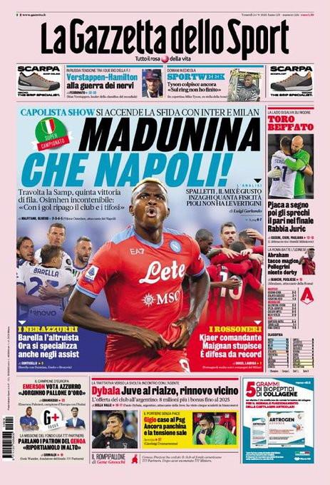 La rassegna stampa delle prime pagine dello sport<br /><br />